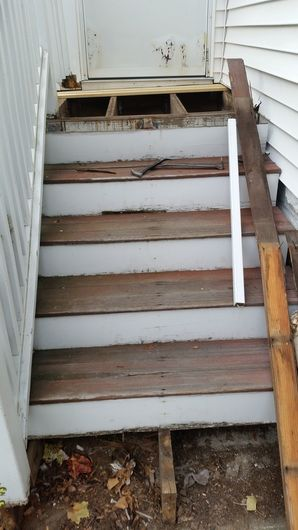Front Steps Repaired in Medford, MA (1)