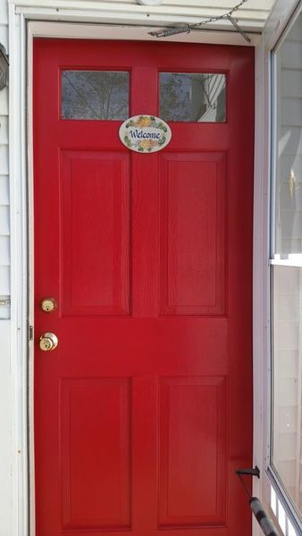 Front Door Painted in Medford, MA (1)