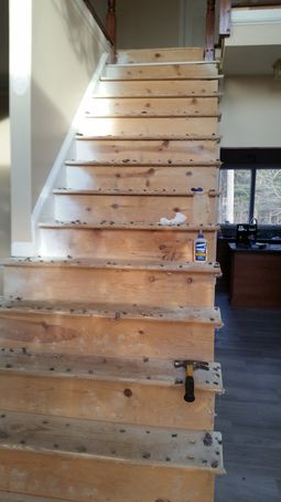 Before & After Staircase Built for New Construction in Medford, MA (1)