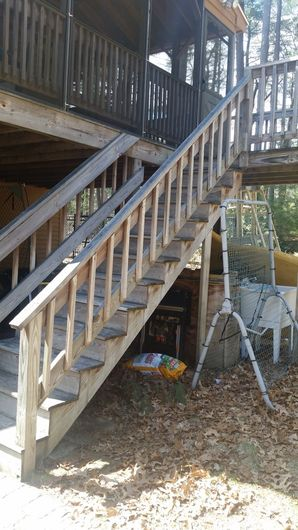 Before & After Deck Staircase in Medford, MA (1)