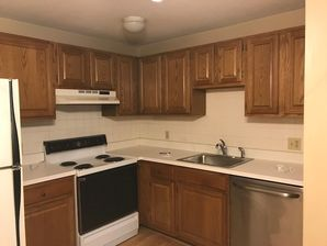 Before & After Kitchen Remodeling in North Andover MA (cabinet painting, flooring, appliance installation) (1)