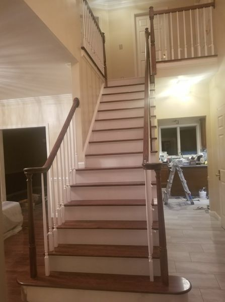 Before & After Staircase Built for New Construction in Medford, MA (3)