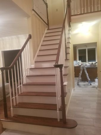 Before & After Staircase Built for New Construction in Medford, MA (2)